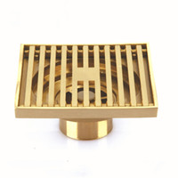 Wholesale Brass Shower Drain - Brass Square Antique Bronze Bathroom Floor Drain Waste Grate Shower Drainer 100*100mm