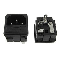 Wholesale Power Inlets - FS Hot 5 x IEC 320 C14 Inlet Male Power Plug Sockets Clamp Type w Fuse Holder order<$18no track