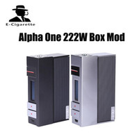 Wholesale Supports E Cigarette - Authentic VOOPOO Alpha One 222W TC Box Mod all metal box support firmware upgradeable love mode VS Voopoo DRAG 157W E-cigarette box