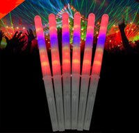 Wholesale flashing light fairy wands - Food Grade PS+HIPS 100pcs lot Colorful Cotton Candy light Up Party Stick Glow Stick LED Fairy Floss Flashing Wand