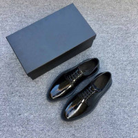 Wholesale Cattle Leather Shoes - Brand designer, cushioned bottom shoes, luxury business men's shoes, casual shoes black open edge pearl cattle leather shoes black size38-44