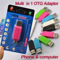 Wholesale Otg Mobile Card Reader - TF Card Reader Micro USB SD Card Reader Micro USB OTG adapter for Android Mobile Phone USB Flash Drive