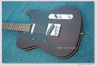 Wholesale Custom Tl - Custom Shop Limited George Harrison TL Telecaster Satin Natural Electric Guitar String Thru Body, Traditional Deluxe F Tuner Machine Head