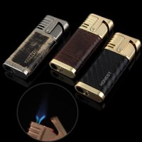 Wholesale Carbon Fiber Heated - Fast Shipping High Quality Carbon Fiber Heating Cord Windproof Butane Gas Lighter Cigarette Lighter