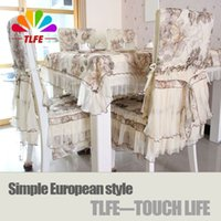TLFE Home Textile Europe Mantel de boda de encaje Rectangular Crocheted Table Cloth Cover (sin cubierta de silla) toalhas de mesa ZB078
