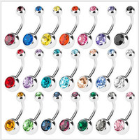 Wholesale Belly Ring Add - 100pcs lot vertical Hoop Add Your Own Charm Belly Ring mixed color body jewelry.Navel ring.Belly Button Rings