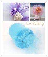 "Wholesale Wholesale Aqua Tutus - New Arrivals- 4 Rolls 6""x100y Aqua Blue Color Tulle Rolls Spool Tutu DIY Craft Wedding Banquet Fabric Wedding Car Decor-Free shipping"