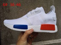 Wholesale Vintage Shoes Sale - (With shoes Box)Hot Sale NMD R1 PK Vintage White Lush Red OG Primeknit Runner S79482 Women Men Sports Running Casual Shoes