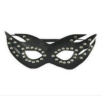 Wholesale Blindfold Party Sex - Kinky Female Sex Bondage Leather Cover Up Blindfold Face Masks Adult Sex Game Costume Party Adult games