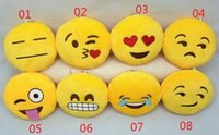 Wholesale Wholesale Small Black Dolls - 2015 Key Chains 10cm Emoji Smiley Small pendant Emotion Yellow QQ Expression Stuffed Plush doll toy for Mobile bag pendant tfgb67