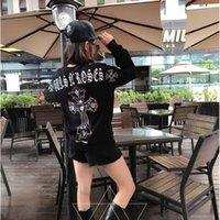 Wholesale Long Black Skull Cardigan - Fashion Winter Autumn America New York Darkness Skull Skeleton Cross Sweatshirt Men Women Black Zipper Hoodie character Cotton Hoody Tops