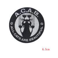 Wholesale Clothing Repair - A.C.A.B Cartoon cat patch decorative Decal affixed cloth denim pants repair subsidies patches scrapbooking applique OUTLET STORE