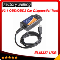 Wholesale Top Selling Obdii Scanners - 2016 Top selling ELM327 usb and best shipping elm 327 obdii interface High quality Super scanner free shipping