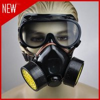 Wholesale Chemical Mask Protection - 1504-Double Gas Mask protection filter Chemical Gas Respirator Face Mask Cheap-Wholesale