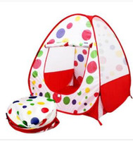 Wholesale Fold Up Tent - Children Kids Play Tents Outdoor Garden Folding Portable Toy Tent Indoor&Outdoor Pop Up Multicolor Independent House