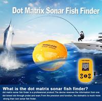 Wholesale Sensor Fish Finder - Newest Smart Portable Fish Finder X9 Rechargeable Dot Matrix Sonar Fish Finder 100m depth Wireless Sonar Sensor Fishfinder ann