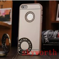 Wholesale Iphone 4s Chrome Cases - Bling Bling Diamond Glitter Sparkle Mirror Chrome Back Cover Cases for iPhone 4 4S 5 5S 6 Plus iPhone6 6+ 5.5