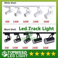 Wholesale Led Spot Track Lighting - DHL CE ROHS UL Led Track Light 6W 10W 14W 24W 36W 120 Beam angle Led Ceiling Spotlight AC 85-265V led spot lighting
