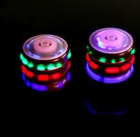 ingrosso ha portato ufo libero-Vendita al dettaglio Giocattoli LED per bambini UFO Singolo Laser LED Colorato Light Peg-Top Gyro Spinning Top con musica classica Spedizione gratuita Drop Shipping