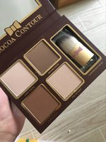 Wholesale contour palettes resale online - Lastest COCOA Contour Highlighters Palette Nude Color Face Concealer Chocolate Eyeshadow with Contour Buki Brush DHL Shipping