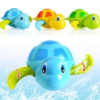 Wholesale Cute Baby Bath Tubs - 3 Pcs Float Pool Wind Up Baby Bath Toys Swimming Tub Bathtub Cute Turtle for Kids Boys Girls BM88