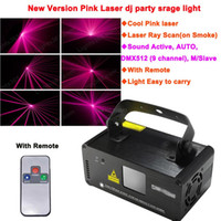 Wholesale Dj Laser Systems - Wholesale-new Remote sound pink 450mW Laser Stage Lighting DMX Scanner effect light Smoke DJ Disco Party Lights system Show D72 free ship