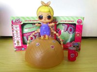 Wholesale Toy Seven Wholesale - 10cm Seven Layers Of Surprise LOL Surprise Doll With Retail Box Girls Dress Up Doll Tear Change Egg Can Spray Realistic Baby Toys