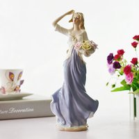 Wholesale Porcelain Dancing - Fashion Home Decorations Ceramic Crafts Sculpture Decoration Porcelain Crafts Beauty Girls Casting Home Ornaments Gifts 8 Styles
