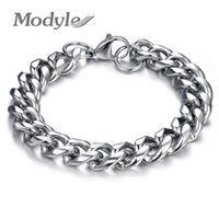 Wholesale Thick Stainless Steel Bracelet - Modyle Stainless Steel Thick Chunky Chain Bracelet For Man Top Grade Fashion Men Jewelry