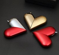 Wholesale pipe used resale online - New Heart Shaped foldable Butane Flame Inflatable Metal Gas Lighters For Smoking Cigarette Pipes Use Accessories Kitchen Tools