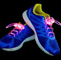 Wholesale Gadget Shoes - Fiber Optic LED Shoe LACES LASER SHOELACES NEON GLOW IN THE DARK STICK GADGET LIGHT via HK Post