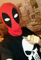Wholesale Red Hat Fabric Wholesale - New U.S Deadpool Masks JLA Balaclava Halloween Cosplay Costume X-men Hats Headwear Arrow Deathstroke Rib Fabrics Full Face Mask