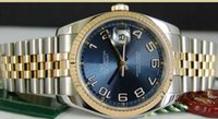 Luxe MONTRES Mens 18kt or SS 36mm Bleu Concentric 116233 SANT BLANC Man Wristwatch