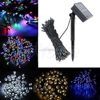 Atacado- 200 Led Solar Power Fairy Light String Lamp Party Halloween Xmas Deco Outdoor # C93U # Drop ship