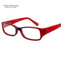 ingrosso occhiali viola per le donne-Occhiali da vista da donna elegante design di moda femminile elegante occhiali da vista Leopard Red Green Purple X1148