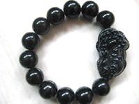 Wholesale Pi Xiu Bracelet - Wholesale and retail Chinese Xinjiang black jade bracelet carving Pi Xiu bring luck