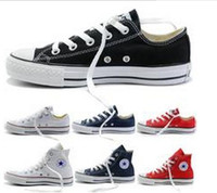 Wholesale Fall Big - 2017 New star big Size 35-45 High top Casual Shoes Low top stars Classic Canvas Shoe Men's Women's Canvas Shoes