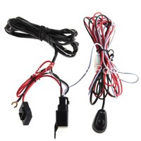 Wholesale 12v Relay Harness - Wholesale-LED Work Driving Light Wiring Harness Kit 12V 40A Switch Relay