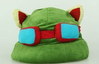 Wholesale teemo cosplay for sale - 1pc League of Legends LOL Teemo Hat Army Green Cap DressUp Cosplay Gift