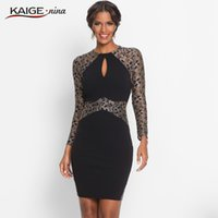 Wholesale Sexy Cloth Sales - Wholesale- KaigeNina New Fashion Hot Sale Women solid sexy &club Printing Cloth O- Neck Mid-Calf lace knitting cotton Dress 18008