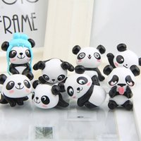8 teile / los Hot Super Nette Panda Action-figuren Cartoon Spielzeug mädchen Anime Weihnachtsfeier versorgung für Kinder Kid Decor zahlen