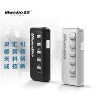 Wholesale Earphones I5 - Wholesale-New Bluedio I5 lavalier wireless earphone Bluetooth SD Card FM stereo music headset binaural genuine