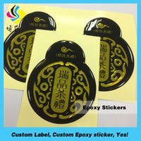 Wholesale Epoxy Oval - Decorative custom 3D Clear or colorful oval Epoxy Resin dome Stickers with your own logo