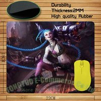 Wholesale Gaming Gear - Wholesale-LOL runaway Lolita Jinx mousepad league of legends Gaming Gear Anti-Slip Durable Mousepad for PC Optical Mouse Tt-R0098