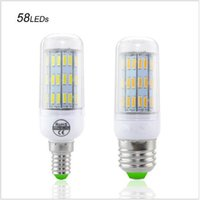 Wholesale best e27 led bulb resale online - Best Selling No Flicker Protect Eyesight Health LED lamp E14 E27 W W W W Corn Light SMD Chip V Bulb Lamp LEDs