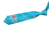 Wholesale Dragon Men Tie - Free shipping,New men, Silk Tie, Male Tie, Silk,Chinese Dragon,Chinese style, National Wind,Chrysanthemum, Chinese Style, Sky Blue