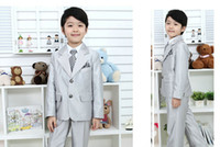 Wholesale Custom Boys Dress Coat - Custom boy suit dress wedding party boy suit formal occasions 2 pieces (coat + pants) custom made