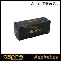 Wholesale triton tanks resale online - 100 Original Aspire Triton Coil RBA Replacement Coil with Japanese Organic Cotton ohm Coil for Triton Tank