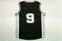 Wholesale Cheap Sports T Shirts - Newest Hot sale Sports Basketball black men College Tony Parker Jerseys #9 Jersey cheap breathable T-SHIRT
