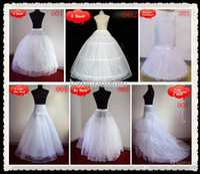 Wholesale Wedding Gown Mermaid Petticoats - Cheap Bridal Gown Petticoat Petticoats Underskirt A Line Ball Gowns Mermaid For Wedding Gown Plus Size Hoop Crinoline Free Shipping